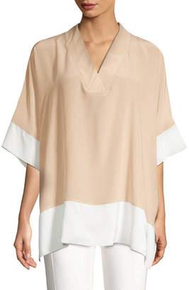 Gold Hawk Colorblocked Kimono Top