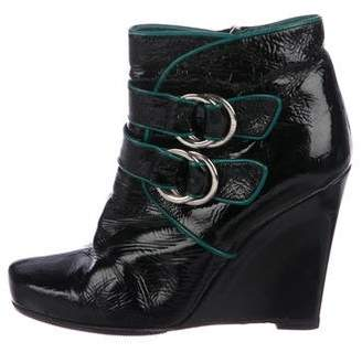 Louis Vuitton Patent Leather Ankle Boots