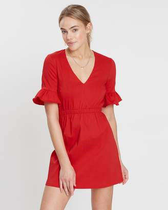 Marcie Ruffle Sleeve Dress