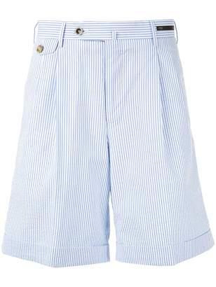 Pt01 striped shorts