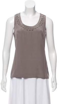 Lela Rose Silk Sleeveless Top