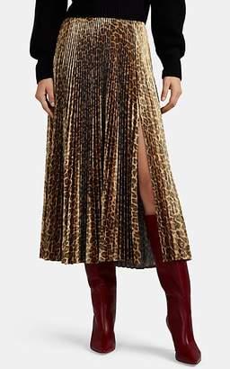 A.L.C. Women's Bobby Pleated Leopard-Print Midi-Skirt