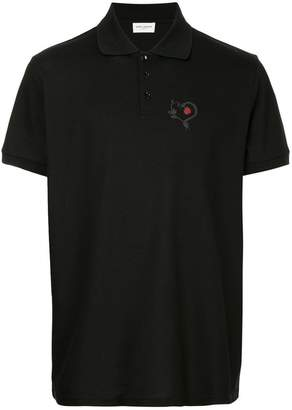 Saint Laurent Snake Heart polo shirt