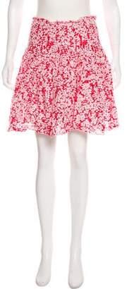 Burberry Floral Knee-Length Skirt
