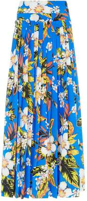Diane von Furstenberg Floral Gathered Maxi Skirt