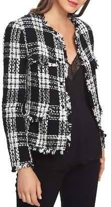 1 STATE 1.STATE Plaid Tweed Cropped Jacket
