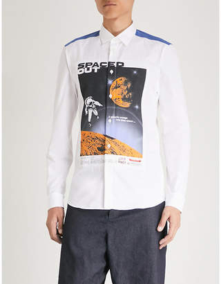 Kenzo Spaced Out printed slim-fit cotton-poplin shirt