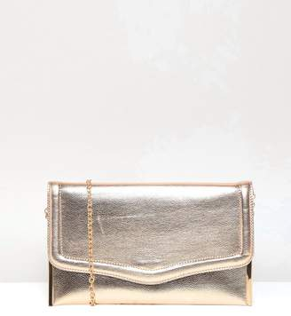 New Look Metallic Clutch Bag