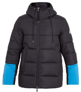 Moncler - Drake Contrast Panel Quilted Down Jacket - Mens - Navy