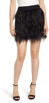 Chelsea28 Feather Miniskirt