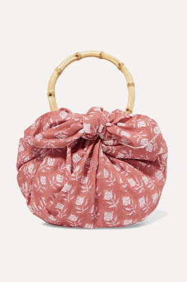 Emily Levine - Dumpling Knotted Floral-print Cotton-voile Tote - Pink