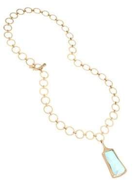 Robert Lee Morris Soho Moonrise Blue Mother-Of-Pearl Adjustable Necklace