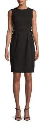 Calvin Klein Lace-Up Corset Sheath Dress