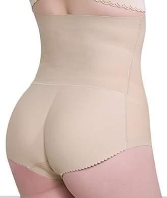 ac82b088e0e0 Pelisy Womens High Waist Butt Lifter Shapewear Tummy Control Padded Hip  Enhancer Panties Underwear ( (
