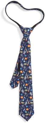 Nordstrom Space Icons Silk Zip Tie
