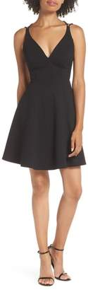 LuLu*s Believe in Love Strappy Back Skater Dress