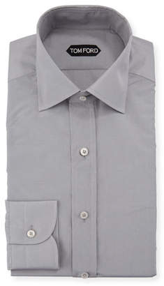 Tom Ford Men's Silk-Blend Poplin Dress Shirt