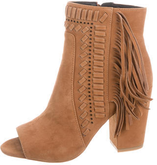 Rebecca MinkoffRebecca Minkoff Iris Fringe-Trimmed Ankle Boots w/ Tags