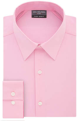 Van Heusen Vh Flex 3 Slim 4 Way Stretch Long Sleeve Twill Dress Shirt - Fitted