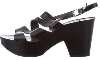 Robert Clergerie Multistrap Platform Sandals