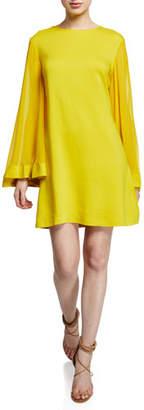 Sachin + Babi Goldie Jewel-Neck Long-Sleeve Cocktail Dress