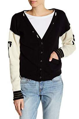 True Religion Ripped Colorblocked Cardigan S