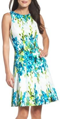 Women's Maggy London Print Fit & Flare Dress $98 thestylecure.com