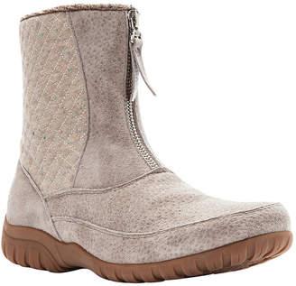 Propet Womens Delaney Mid Zip Chukka Boots Flat Heel Zip
