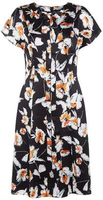 St. John Floral Silk Dress