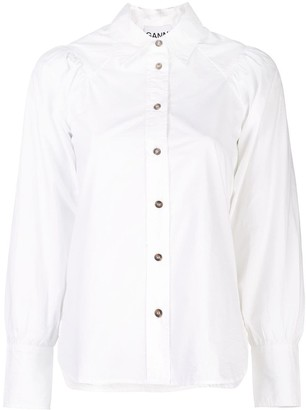 Ganni ruched shirt