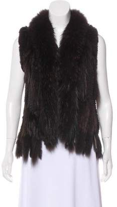 Linda Richards Knit Fur Vest