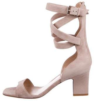 Valentino Suede Ankle-Strap Sandals w/ Tags