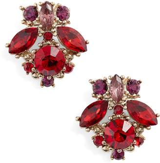 Marchesa Crystal Cluster Earrings
