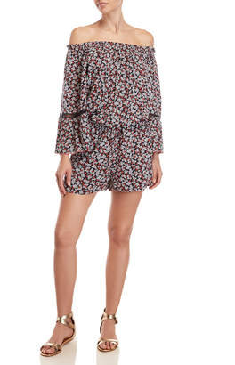 MICHAEL Michael Kors Printed Off-the-Shoulder Cover-Up Romper