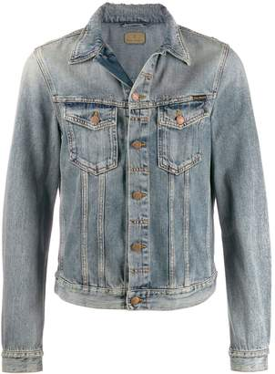Nudie Jeans distressed denim jacket