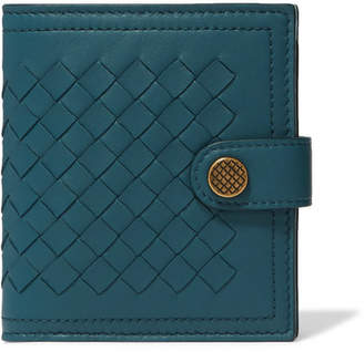 Bottega Veneta Intrecciato Leather Wallet - Teal
