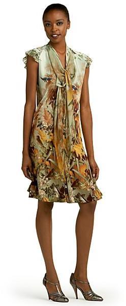 Jean Paul Gaultier Bird Print Jersey Dress