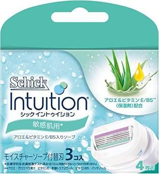 Schick シック イントゥイション 替刃 女性用 カミソリ 敏感肌用(3コ入)