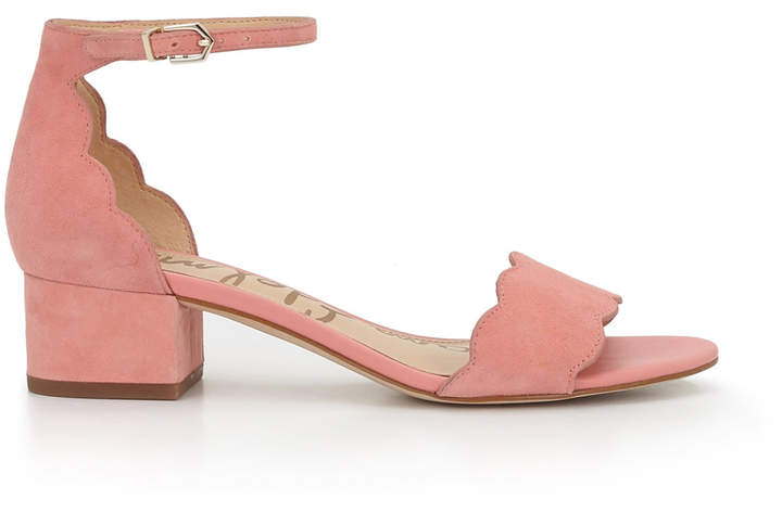 Inara Scalloped Block Heel Sandal