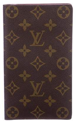 Louis Vuitton Monogram Checkbook Cover