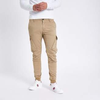River Island Stone tapered cargo pants