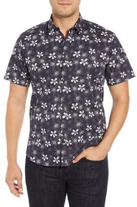 Jared Lang Trim Fit Floral Sport Shirt