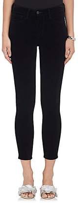 L'Agence Women's Margot Velvet Skinny Jeans - Noir