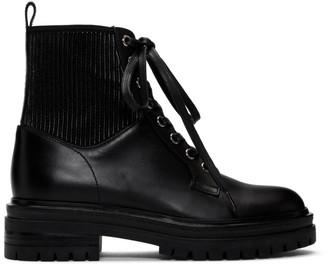 Gianvito Rossi Black Martis Combat Boots