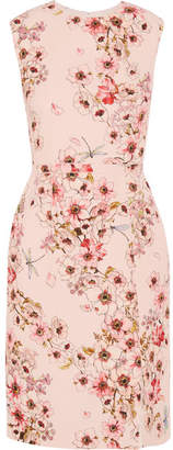 Giambattista Valli Floral-print Silk-crepe Dress - Pink