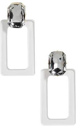 BaubleBar Luza Faceted Lucite Rectangle Drop Earrings
