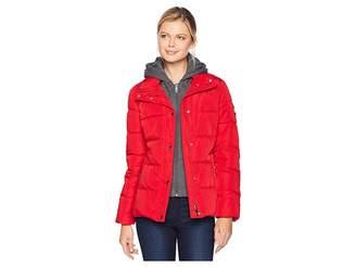 Tommy Hilfiger 25 Puffer w/ Hooded Vestie Women's Coat