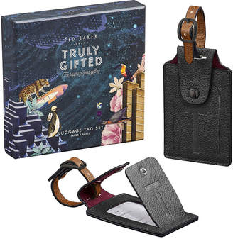 Ted Baker Ted's World Luggage Tag Set - Black