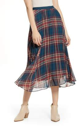 Band of Gypsies Come as You Are Plaid Midi Skirt