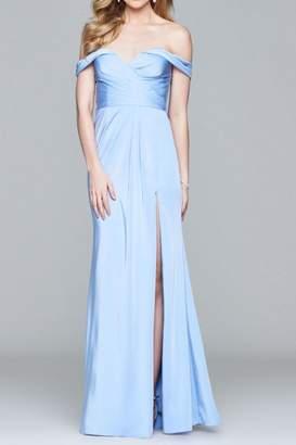 Faviana Beautiful Off-Shoulder Gown